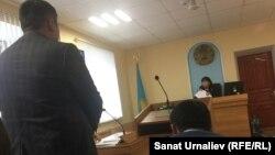 В зале суда в селе Западно-Казахстанской области, 3 ноября 2017 года. Иллюстративное фото.