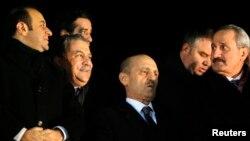Turqi -- (M-D) Ministri për Evropë Egemen Bagis, ministri i brendshëm Muammer Guler, ministri i mjedisit Erdogan Bayraktar dhe ministri i ekonomisë Zafer Caglayan (Ilustrim)