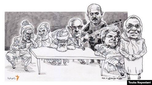 کیوان ساکت و مهمانانش/ کاری از توکا نیستانی