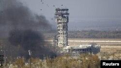Зруйнована вежа Донецького аеропорту, жовтень 2014 року