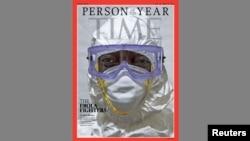 Обложка журнала Time «Человек 2014 года» с фотографией хирурга из Либерии Джерри Брауна.