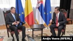 Romanian President Klaus Werner Johannis in Serbia