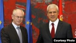 Голова Європейської ради Герман Ван Ромпей та президент Сербії Борис Тадич, Белград, Сербія, 5 липня 2010 року