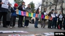 За Светлану Бахмину болели тысячи людей в России и по всему миру. (На фото - митинг в день рождения Бахминой)