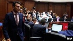 Kryeministri i Maqedonisë Zoran Zaev në mbledhjen e kabinetit të tij qeverisës, foto nga arkivi