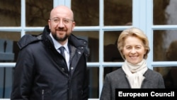 European Council President Charles Michel and European Commission President Ursula von der Leyen (file photo)