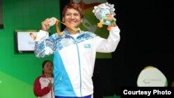Раушан Қойшыбаеваның медаль алған сәті. Рио-де-Жанейро, 11 қыркүйек 2016 жыл.
