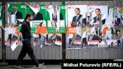 Plakati stranaka na ulicama Sarajeva nakon izbora 2014.