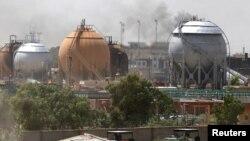 Иракта 15-май күнү чабуул коюлган газ заводу.