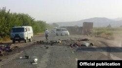 Последствия ДТП на трассе Ош-Бишкек (архивное фото).