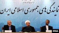 حسن روحانی، رئیس جمهور ایران، در جمع سفرای جمهوری اسلامی. ۲۰ مرداد ۹۳.