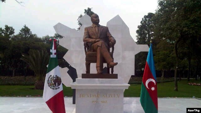 Azerbaijan's government paid millons to erect the Heydar Aliyev monument in Mexico City.