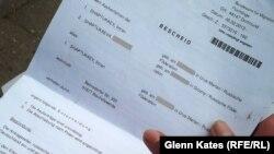 Германияның миграция қызметінің Имрам Шаптукаевқа берген депортация туралы хабарламасы.