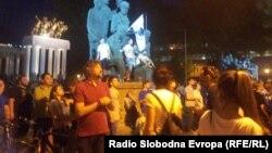 Протестите пред Собранието на Македонија.