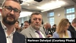 Нариман Джелял, Ахтем Чийгоз и Эмине Джеппар (слева направо) на встрече в Конгрессе США. Вашингтон, 22 марта 2019 года