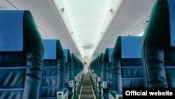 Unutrašnjost aviona Croatia Airlinesa