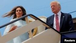 Presidenti Donald Trump dhe zonja e Parë, Melania Trump.