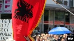 Sa jednog od prethodnih protesta Albanaca u Skoplju
