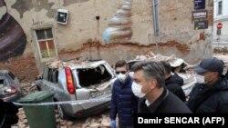 Premijer Hrvatske Andrej Plenković obišao je porušena područja