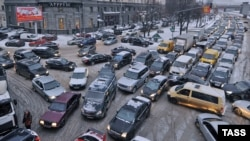 A Moscow traffic jam (file photo)