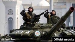 На военном параде в Астане. Иллюстративное фото.