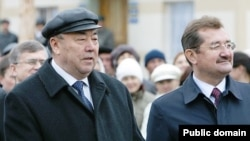Мортаза Рәхимов (с) һәм Раил Сарбаев (у)