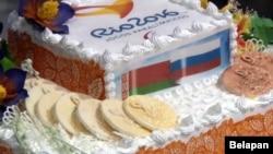 Торт, якім сустракалі беларускіх паралімпійцаў