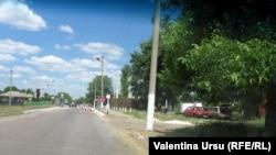 Bariera de la intrarea în Corjova