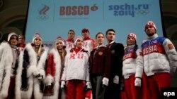 Российские спортсмены представляют форму Bosco для Олимпийских игр в Сочи