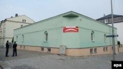 محل انفجار یکی از بمبها در درسدن