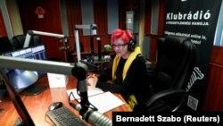Вработенa во опозициската радиостаница Клубрадио, Будимпешта, 9 февруари 2021 година