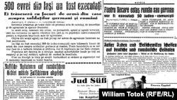 Presa vremii despre Pogromul din Iaşi