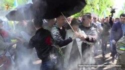 У Слов'янську облили зеленкою депутата Королевську (відео)