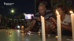 Vigil For Three Kosovar Victims Of Munich Shootings