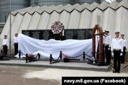 На Військово-морській базі «Південь» в Одесі відкрили меморіал військовим морякам, які загинули у російсько-українській війні. 2 червня 2021 року