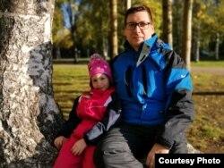 Алексей Есин с дочкой Настей