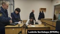 Лия Милушкина на заседании суда, Псков, 13 марта 2019 года