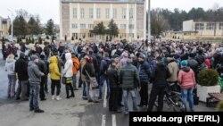 Мітынг у Рагачове 12 сакавіка