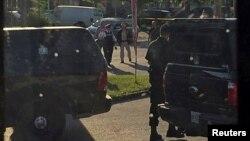 Канадская полиция во время спецоперации