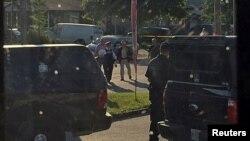Полицейская операция в Стратроу (Канада, 10 августа 2016 года).