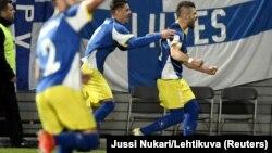 Valjon Berisha nakon gola na utakmici Kosovo - Finska