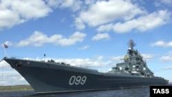 Бөек Пётр ракета крейсеры бу көннәрдә Кариб ярларына таба бара