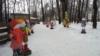 Аллея снеговиков в Новокузнецке