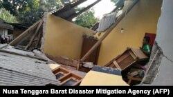 Последствия землетрясения в Индонезии. Июль 2018 года. Иллюстративное фото.