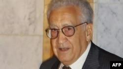 БҰҰ-ның Сирия жөніндегі жаңадан тағайындалған арнайы өкілі Лахдар Брахими. Дамаск, Сирия. 13 қыркүйек 2012 ж.