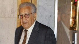 UN peace envoy Lakhdar Brahimi after his arrival in Damascus on September 13.