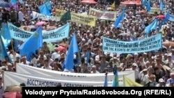 Крым, Симферополь, акция памяти депортированных крымских татар, 18 мая 2012