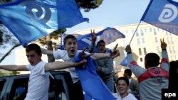 Përkrahës të PD-së në Shqipëri