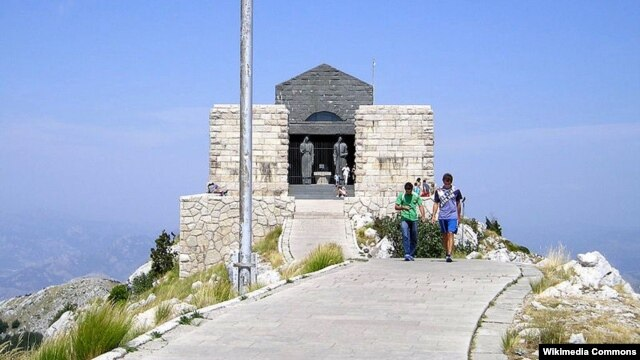 The mausoleum of Petar II Petrovic-Njegos, who is revered by most Serbs and Montenegrins.