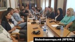 Комисијата за именување на седница за разрешување на Катица Јанева